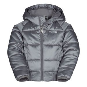 🌨North Face Silver Puffer Jacket (10/12M)